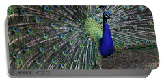 Portable Battery Charger featuring the photograph Peacock Of Tivoli by Harvey Barrison