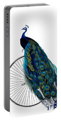 Peacock On A Bicycle, Home Decor Portable Battery Charger