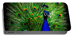 Peacock Paradise Portable Battery Charger