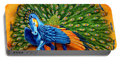 Peacock Pegasus Portable Battery Charger by Melissa A Benson