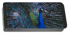 Portable Battery Charger featuring the photograph Peacock Splendor by Marie Hicks