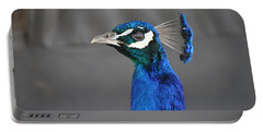 Peacock Stare Down Portable Battery Charger