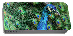 Portable Battery Charger featuring the photograph Peacock by Steven Sparks