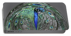 Peacock Swirl #2 Portable Battery Charger