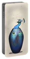 Peacock Vase Portable Battery Charger