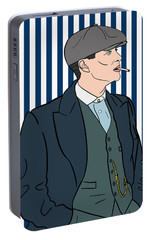 Peaky Blinders Portable Battery Charger by Nicole Wilson