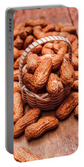 Peanuts In Tiny Basket In Close-up Portable Battery Charger