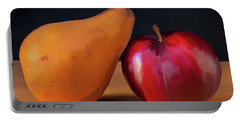 Pear And Plum 01 Portable Battery Charger by Wally Hampton
