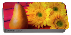 Pear And Sunflowers Portable Battery Charger