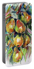 Portable Battery Charger featuring the painting Pear by Kovacs Anna Brigitta