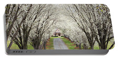 Portable Battery Charger featuring the photograph Pear Tree Lane by Benanne Stiens