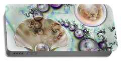 Portable Battery Charger featuring the digital art Pearl Of Great Price by Dolores Develde