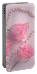 Pearls And Roses Portable Battery Charger