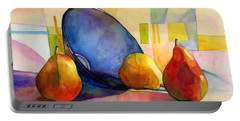 Pears And Blue Bowl Portable Battery Charger