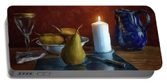 Pears By Candlelight Portable Battery Charger