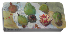 Pears Figs And Young Pomegranates Portable Battery Charger