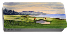 Pebble Beach Golf Course Portable Battery Charger by Bill Holkham