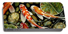 Pebbles And Koi Portable Battery Charger