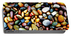 Pebbles On A Beach Portable Battery Charger