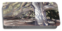 Portable Battery Charger featuring the painting Pechanga Great Oak by Bonnie Rinier