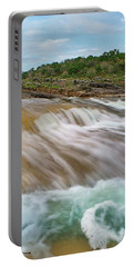Pedernales Falls Portable Battery Charger by Tim Fitzharris