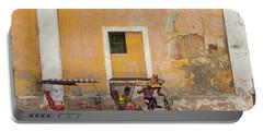 Portable Battery Charger featuring the photograph Pedicabs At Convento De Santa Clara Havana Cuba by Charles Harden