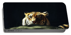 Portable Battery Charger featuring the photograph Peek-a-boo Tiger by Angela DeFrias