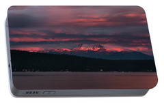 Portable Battery Charger featuring the photograph Peekaboo Sunrise by Jan Davies
