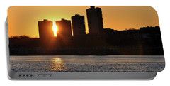Portable Battery Charger featuring the photograph Peekaboo Sunset by Sarah McKoy