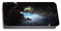 Portable Battery Charger featuring the photograph Peeking Through The Lava Tube by Susan Rissi Tregoning