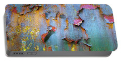 Peeling Paint And Rust Textures 135 Portable Battery Charger