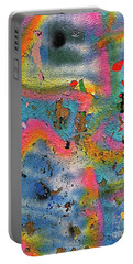 Peeling Paint Graffiti Portable Battery Charger by Todd Breitling