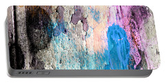 Portable Battery Charger featuring the mixed media Peeling Paint by Jessica Wright