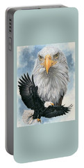 Portable Battery Charger featuring the painting Peerless by Barbara Keith