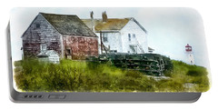 Portable Battery Charger featuring the photograph Peggy's Cove Lighthouse Nova Scotia Canada by Betty Denise