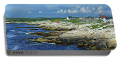 Portable Battery Charger featuring the photograph Peggy's Cove by Rodney Campbell