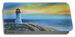 Peggy's Cove Sunset Portable Battery Charger