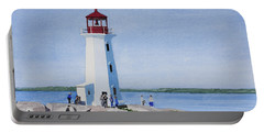 Peggy's Point Lighthouse Portable Battery Charger by Mike Robles