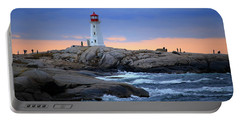 Peggy's Point Lighthouse, Nova Scotia, Canada Portable Battery Charger