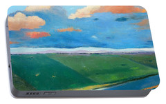 Portable Battery Charger featuring the painting Peggy's Road by Gary Coleman