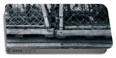 Portable Battery Charger featuring the photograph Pei Loberster Traps by Chris Bordeleau