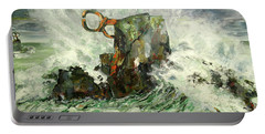 Portable Battery Charger featuring the painting Peine Del Viento by Koro Arandia
