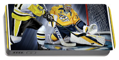 Pekka Rinne Stanley Cup Portable Battery Charger by Don Olea