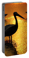 Pelican And Avocets Portable Battery Charger
