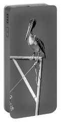 Pelican In Black And White Portable Battery Charger