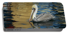 Pelican In Watercolors Portable Battery Charger