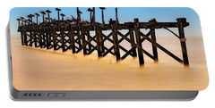 Portable Battery Charger featuring the photograph Pelican Pier Near Pass Christian - Mississippi by Jason Politte