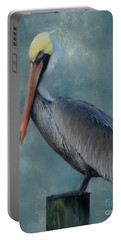 Portable Battery Charger featuring the photograph Pelican Portrait by Benanne Stiens