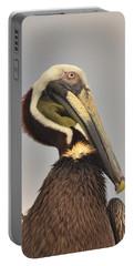 Pelican Portrait Portable Battery Charger by Nancy Landry