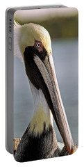 Pelican Portrait Portable Battery Charger by Sally Weigand